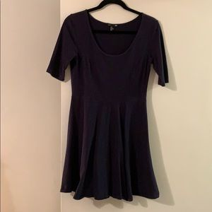 H&M mini cotton stretch dress navy blue